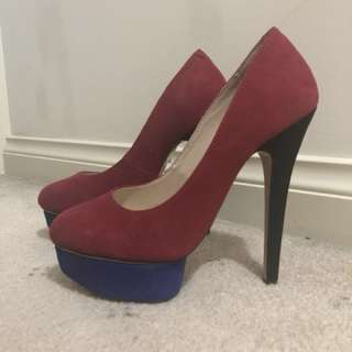 Tony Bianco red heels size 7 new