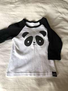 Whistle & Flute Panda Long Sleeve t-shirt - 2T - Free Postage