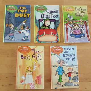 Books - I Love Reading Phonics (5 titles, various levels) *in brand new condition*