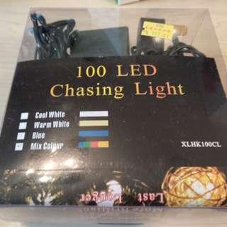 100 LED chasing light 裝飾小燈,適合聖誕新年party 用