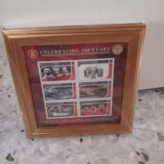 Manchester United 100 years Stamp Set 1902-2002