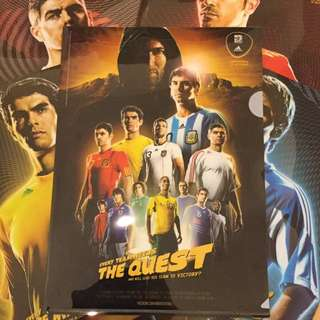 絕版罕見歐洲足球 Adidas Langham Place Soccer Football Files (5 files)