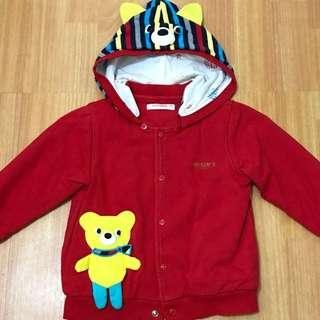 兒童幼兒保暖外套刷絨毛,尺寸100