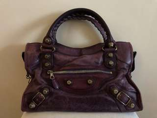 Balenciaga Bag - purple city bag