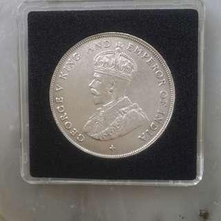 Rare UNC Straits Silver 1920 Dollars