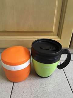 Thermos mug and container