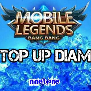 Jasa top up diamonds mobile legend