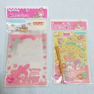 🆕️ My Melody Sanrio Clear & Wrapping Plastic Bags