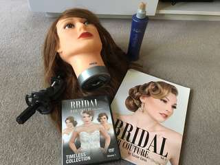Hair styling kit- mannequin, study DVD and book