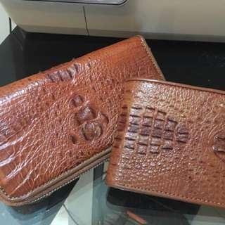 Brand New Crocodile Skin Couple Wallet