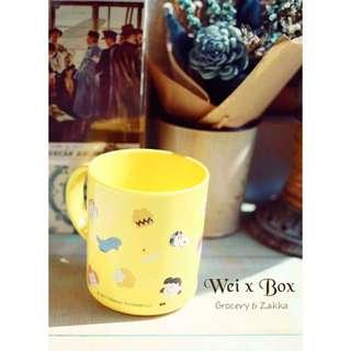 🌟日本製🌟SNOOPY史努比查理布朗黃色水杯/漱口杯/塑膠杯/冷水杯(現貨1)