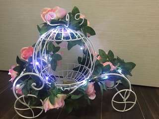 Pumkin carriage with fairy lights