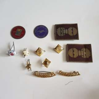 Singapore badges and pins