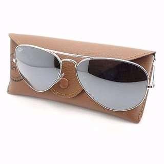 Unisex Rayban Silver Aviator Sunglasses
