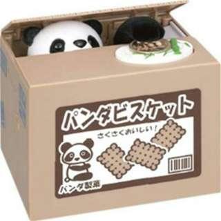 全新🎉 貓咪存錢筒 偷錢貓咪 熊貓存錢筒 偷錢熊貓 貓熊存錢筒 自動存錢筒