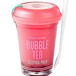 Etude House Bubble Tea Sleeping Pack (strawberry)