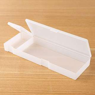 MUJI transparent box pencil case