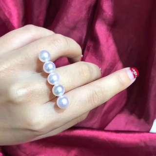 客訂款☺️TASAKI平衡同款,7.5-8mm頂級櫻花粉akoya,正圓極強光澤,18k金,上手超美!
