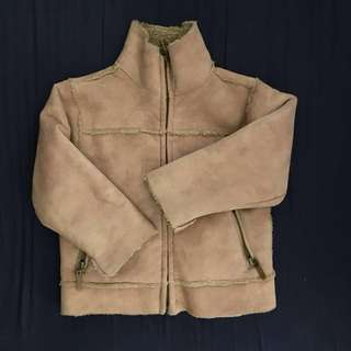 Skhuaban suede winter jacket with fleece lining