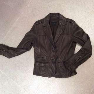 Giordano Ladies Leather Jacket