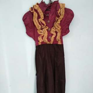Dress Import Pesta Mewah Dark Purple