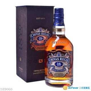 全新18年芝華士酒(香港行貨)(一支)
