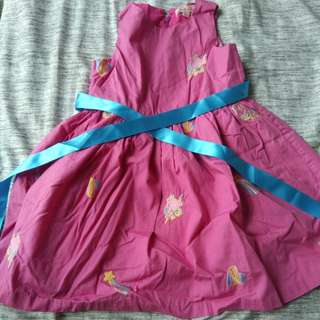 Tarte Tatin Pink Dress with Unicorn Embroidery