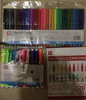 Daiso Washable Markers & Crayon