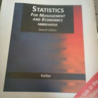 Statistics for management and exonomics 7th edition