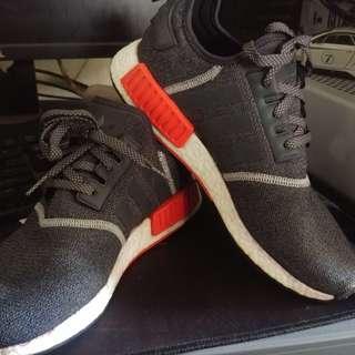 NMD R1 wool grey-Solar Red