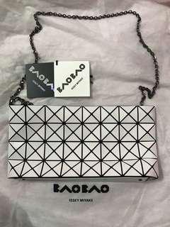 正品 Issey Miyake Bao Bao 4x8 拉鏈 斜揹袋 側背 單肩袋 鐵鏈 chain 包 手袋 三宅一生 BaoBao