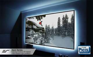 Elite Screens Aeon, 100-inch 16:9, 4K Home Theater Fixed Frame EDGE FREE Borderless Projection Projector Screen, AR100WH2