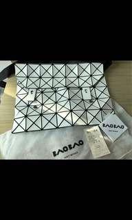正品 Issey Miyake Bao Bao 5x7 斜揹袋 側背 單肩袋 鐵鏈 郵差包 手袋 三宅一生 BaoBao
