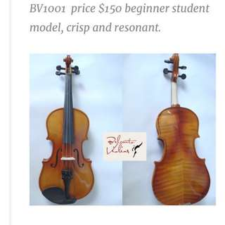 Belcanto Violins BV1001 Sale all sizes 1/16 - 4/4