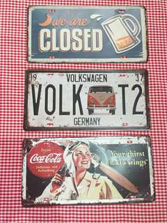 BUNDLE: 3 VINTAGE/RETRO SIGNS