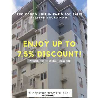 RFO Condo Promo in Pasig City