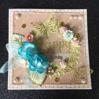 Birthday floral card