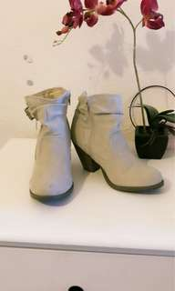 Bran new light beige boots