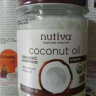 【效期:2020.1】【414ml】【現貨】Nutiva 有機冷壓初榨椰子油