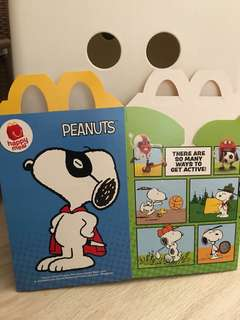 Snoopy happy meal box
