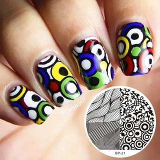 1 Pc Cute Owls Nail Art Stamping Template Image Plate Egypt Star Tree Cool Badge Theme Manicure Nail Art Stencil