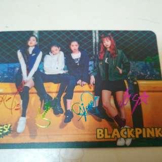 Blackpink簽名卡