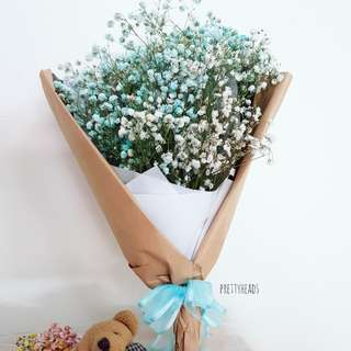 Large baby breath bouquet