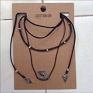 Cotton On Boho Wrap Necklace