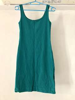 H&M Bodycon Forest Green Dress Size XS