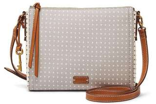 Fossil Emma East West Crossbody (Grey/White)