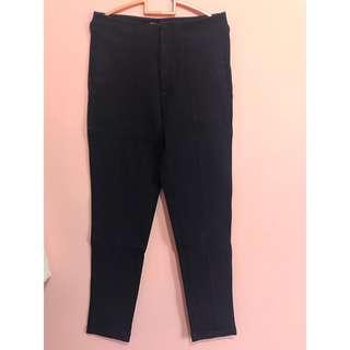 Kivee High Waist Navy Pants