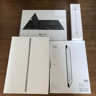 iPad Pro 9.7 LTE 128GB with Type cover, Apple Pencil