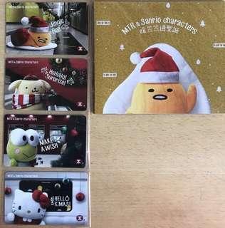 MTR x Sanrio Characters 聖誕紀念車票