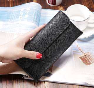 BN Long Leather Wallet - Black